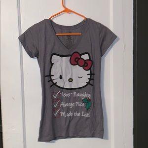 Gray Christmas hello kitty shirt